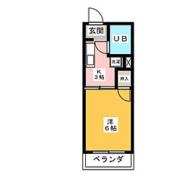 タウニー長筬[1階]の間取り