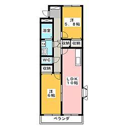 BELL CRESTII[3階]の間取り