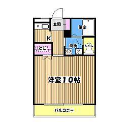 東京都昭島市松原町5丁目の賃貸マンションの間取り