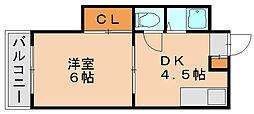 ハイネス壱番館[2階]の間取り