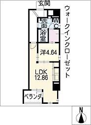 ラフィネ名駅[7階]の間取り