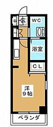 神奈川県横浜市中区松影町1丁目の賃貸マンションの間取り