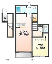 キャラ東海[2階]の間取り