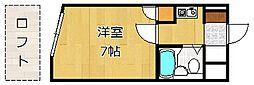 クレスト黒崎[307号室]の間取り