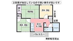 福岡県福岡市西区大字飯氏の賃貸アパートの間取り