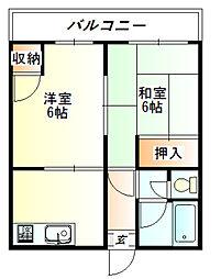 大東アパート[1階]の間取り