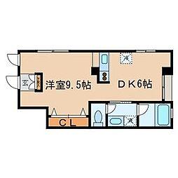 スカイホーム村田[1階]の間取り
