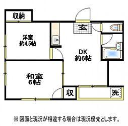ハウスメモリアルI[2階]の間取り