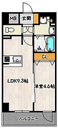 神戸市海岸線 ハーバーランド駅 徒歩4分の賃貸マンション 15階1LDKの間取り