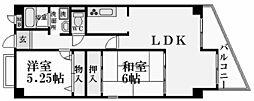 ホワイエ北夙川[2階]の間取り