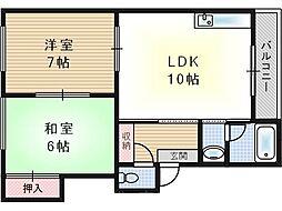 第3向和マンション[3階]の間取り