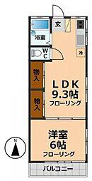ハウス横倉[2階]の間取り