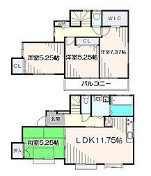 [一戸建] 埼玉県新座市畑中2丁目 の賃貸【/】の間取り
