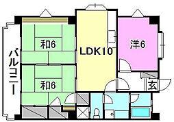 メゾンK−II[301 号室号室]の間取り