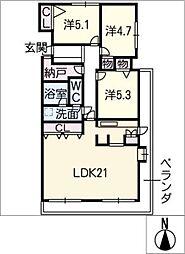 荘苑八事ビラージュ二番館706[7階]の間取り