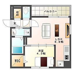 札幌市営東西線 大通駅 徒歩4分の賃貸マンション 7階1LDKの間取り