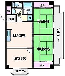 ハイツ山田[3階]の間取り