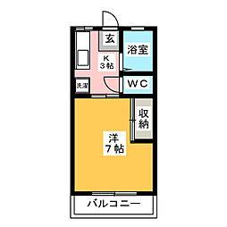 鈴木ハイツ[1階]の間取り
