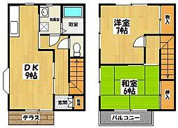 [テラスハウス] 埼玉県吉川市高久1丁目 の賃貸【/】の間取り