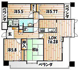サンライフ高田III[11階]の間取り