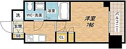 大阪府大阪市中央区瓦屋町2丁目の賃貸マンションの間取り