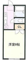 神奈川県横浜市緑区東本郷6丁目の賃貸アパートの間取り