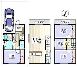 京阪本線 萱島駅 徒歩16分 4LDKの間取り