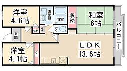 Courtひらき坂(コートヒラキザカ)[4階]の間取り