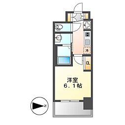 エステムコート名古屋栄プレシャス[5階]の間取り