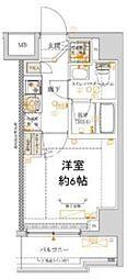 横浜市営地下鉄ブルーライン 吉野町駅 徒歩6分の賃貸マンション 9階1Kの間取り