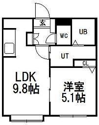 平岸アぺリオ[3階]の間取り