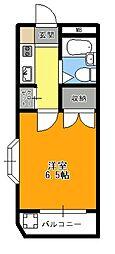 土方マンション[2号室]の間取り