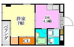 千葉県習志野市実籾5丁目の賃貸マンションの間取り