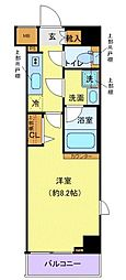 西武新宿線 下落合駅 徒歩4分の賃貸マンション 3階1Kの間取り