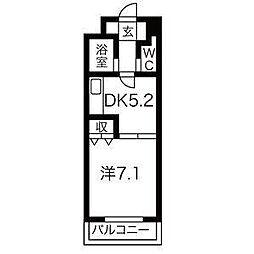 南6条タッセイビル[5階]の間取り