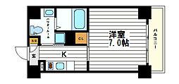 大阪府大阪市天王寺区石ケ辻町の賃貸マンションの間取り