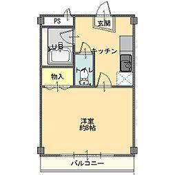 サクラマンション[205号室]の間取り