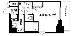 セオリー大阪ベイシティ[2階]の間取り