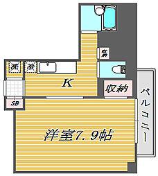 東京都北区志茂4丁目の賃貸マンションの間取り