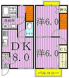 [テラスハウス] 千葉県我孫子市湖北台5丁目 の賃貸【/】の間取り