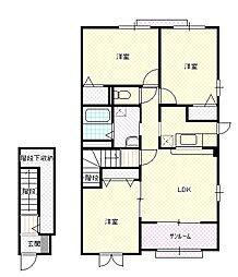 新潟県新潟市北区横井の賃貸アパートの間取り