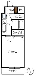 田中興産第11ビル[8階]の間取り
