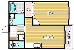 ムイント・プラゼール[3階]の間取り