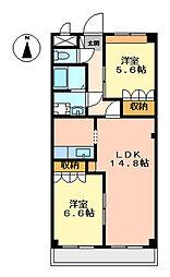 パインヒルズ[2階]の間取り