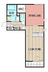 COZY COURT 赤坂[1階]の間取り
