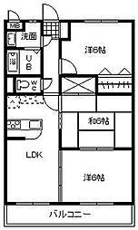 サンコート大島[A303号室]の間取り