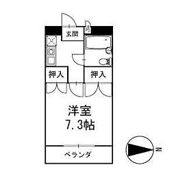 マンション清 1階[102号室]の間取り