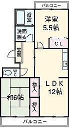 愛知県安城市里町3丁目の賃貸マンションの間取り