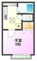 メゾンM&Si[1階]の間取り