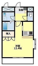 名鉄豊田線 黒笹駅 徒歩4分の賃貸アパート 1階ワンルームの間取り